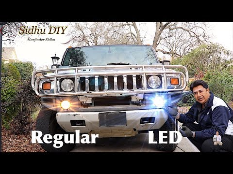 LED Upgrade DRL Lights on HUMMER H2 | Replace Daytime Running Lights to LED Bulbs