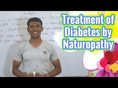 Treatment of Diabetes by Naturopathy   Hindi