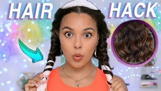 Testing Weird Hair Hack for LAZY PEOPLE! Heatless Overnight Curls!