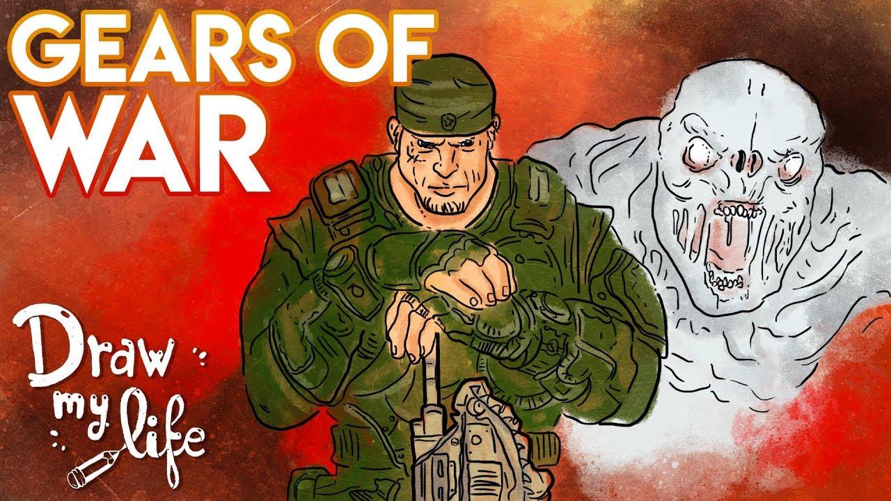 GEARS OF WAR  #Gears5   Draw My Life