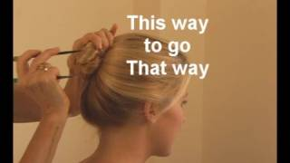 Knot using hairstyx hair sticks --- it's easy