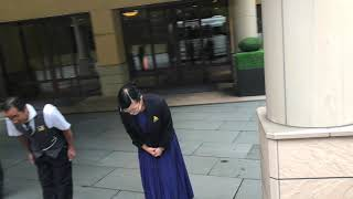 Hotel Staff Bow Down to Guest leaving