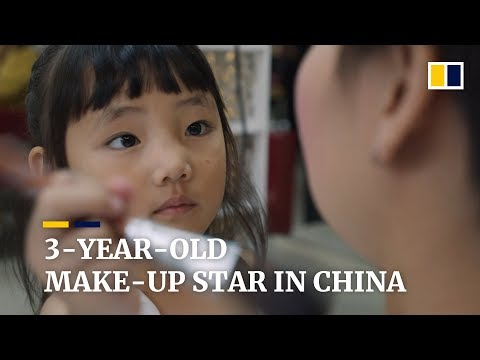 3-year-old 'make-up artist' becomes star in China