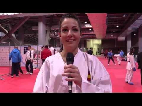 Interview to Cristina VIZCAINO. Bronze medalist. 2015 European Karate Championships