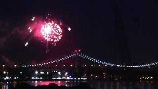 Fireworks Over RFK (Triborough) Bridge, New York, Week of July 4, 2014