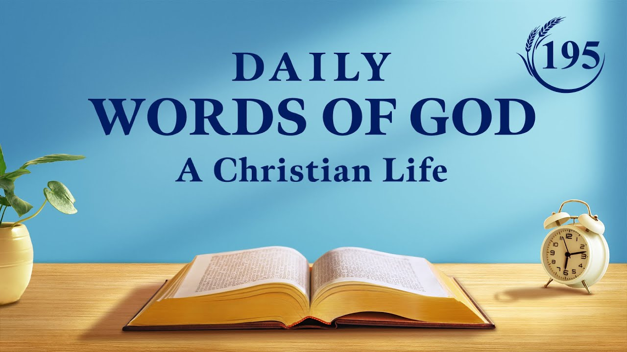 """Daily Words of God   """"Work and Entry (8)""""   Excerpt 195"""
