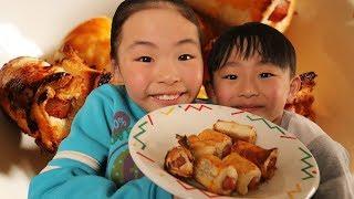 超簡単「ウィンナーパイ」が美味すぎRino&Yuuma