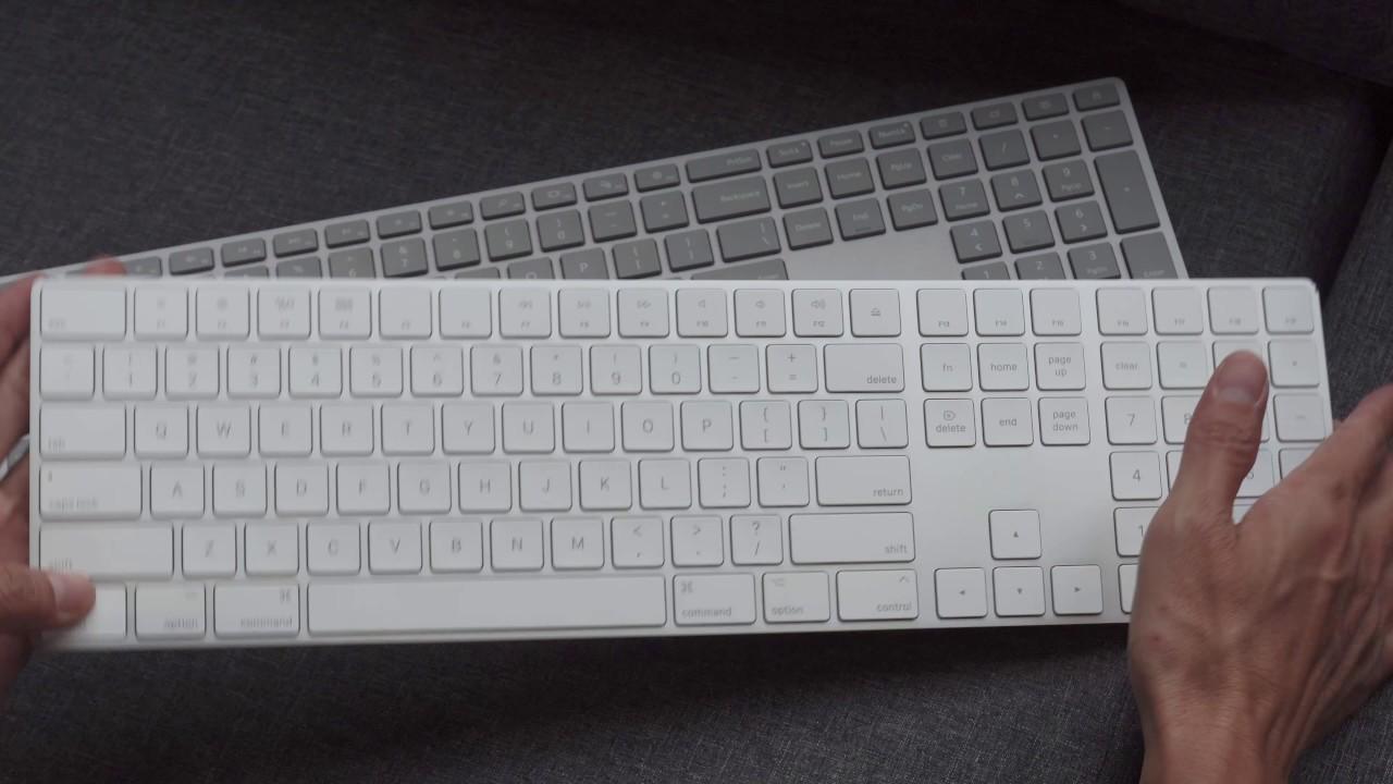 Trên tay Microsoft Surface Keyboard và Apple Magic Keyboar: có bàn phím số riêng