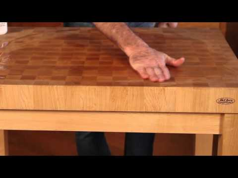How To Maintain a chopping block or end grain butcher block top