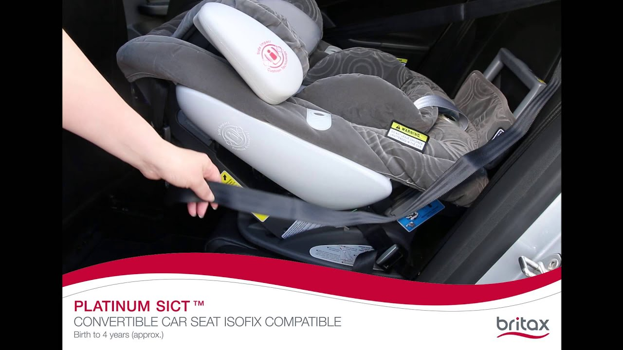 Britax Safe-n-Sound Platinum SICT ISOFIX: How To Install Rear-Facing ...
