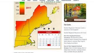 Interactive New England Foliage Forecast Map