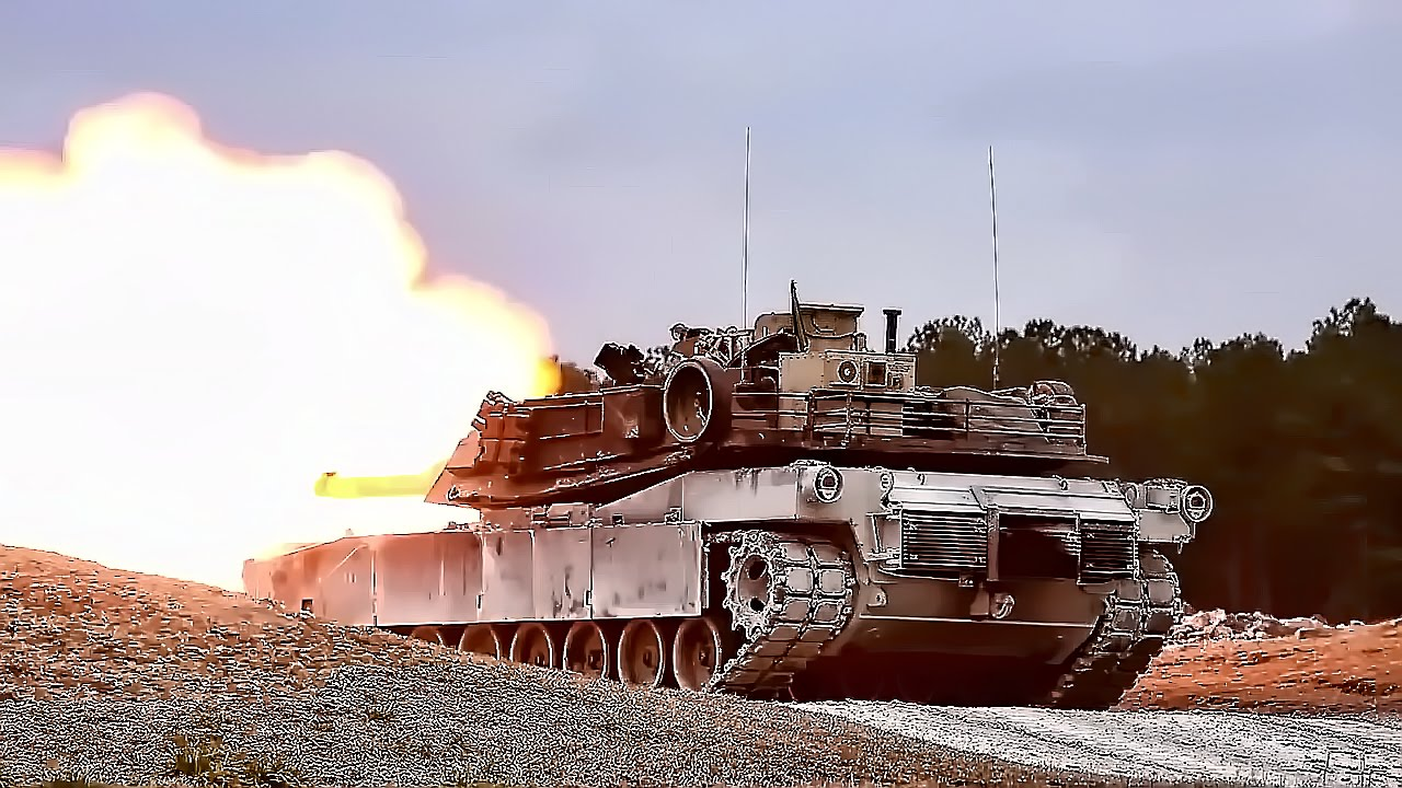 U.S Soldiers • M1A1 Abrams Battle Tank • Live-Fire Exercise