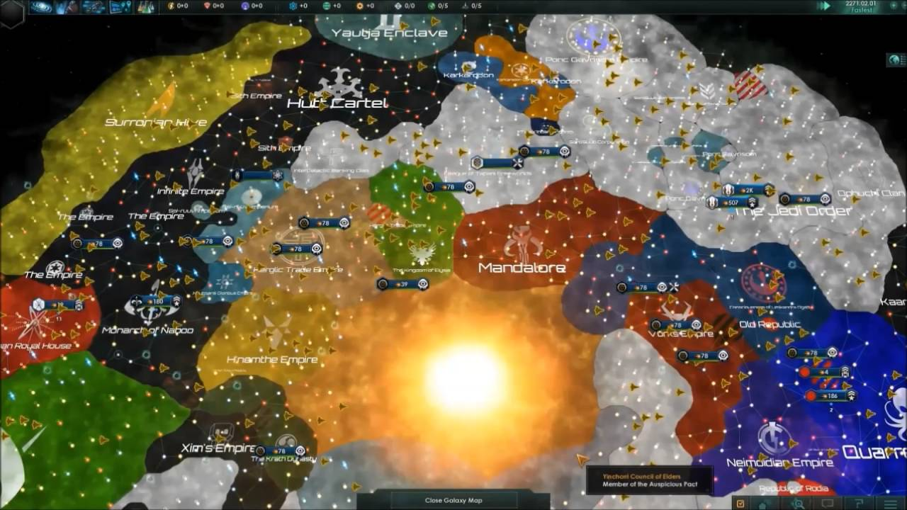 Star Wars Universe Map Stellaris | 100+ years of Star wars Universe timelapse   YouTube Star Wars Universe Map
