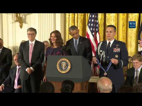 Bill And Melinda Gates Awarded Medal Of Freedom