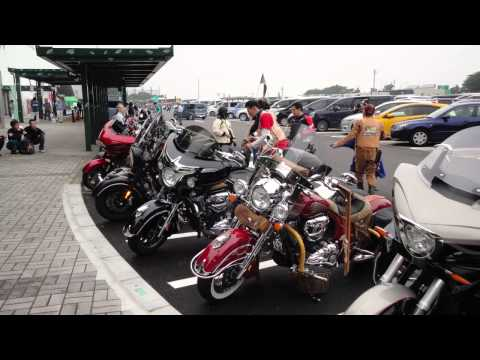 Indian Victory Motorcycle Touring In Fujigoko Japan