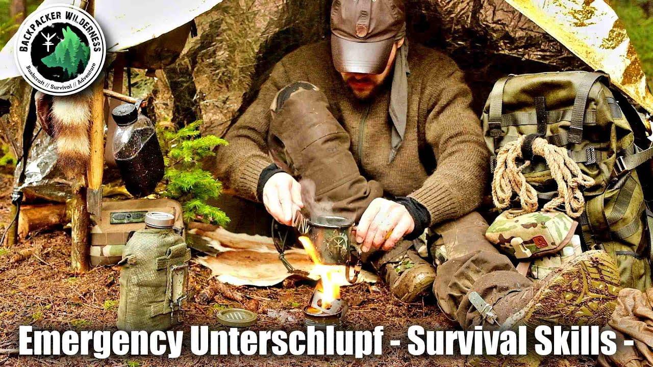 Emergency Unterschlupf - Survival Shelterbau mit Rettungsdecke - Survival Skills -