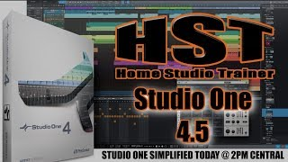 Studio One 4.5 SIMPLIFIED - A CASUAL WALK THROUGH OF SOME OF THE NEW FEATURES