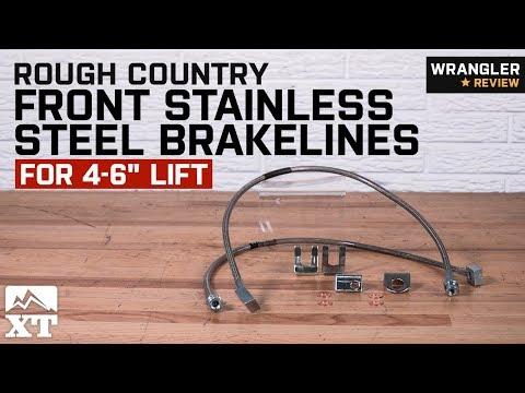 Jeep Wrangler TJ Stainless Steel Extended Brake Line Kit for Lifts DOT Approved