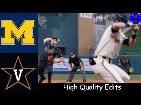 #11 Michigan vs #1 Vanderbilt | MLB4 Tournament | 2020 College Baseball Highlights