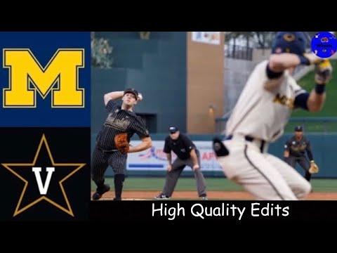 #11 Michigan vs #1 Vanderbilt | MLB4 Tournament | 2020 College Baseball Highlights