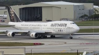 Video Iron Maiden Ed Force One 747 Landing Fort Lauderdale FLL download MP3, 3GP, MP4, WEBM, AVI, FLV Juni 2018