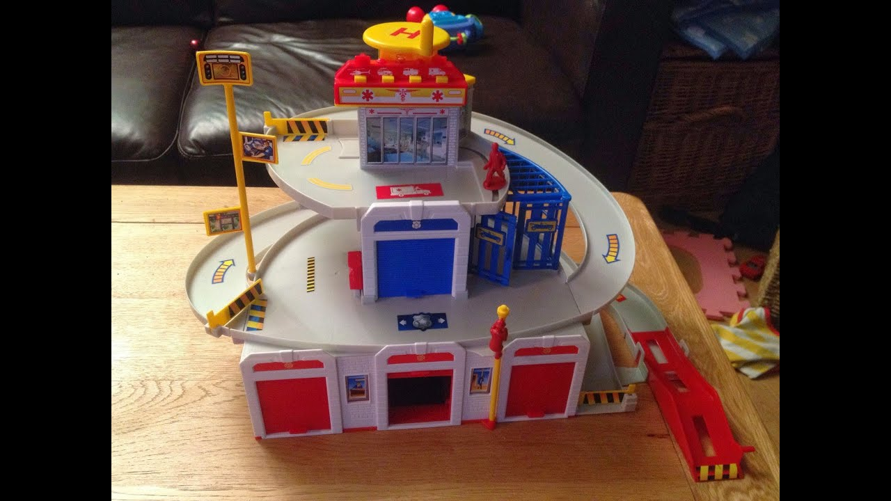 Fast Lane Rescue Center Toddlers Review Fire Engine Police