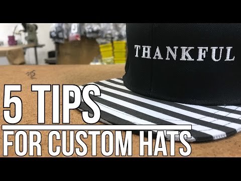 5 Quick Tips to Create Clean Custom Hats