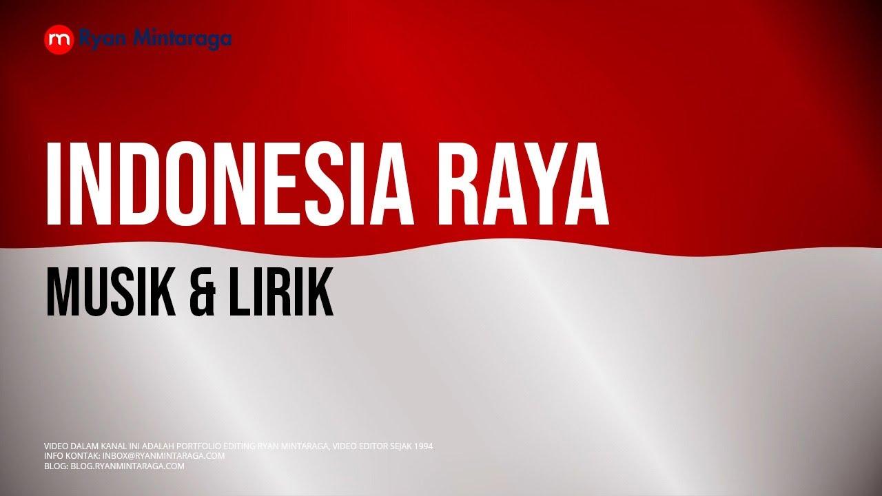 Indonesia Raya (Lirik, Musik, Dan Animasi Bendera)