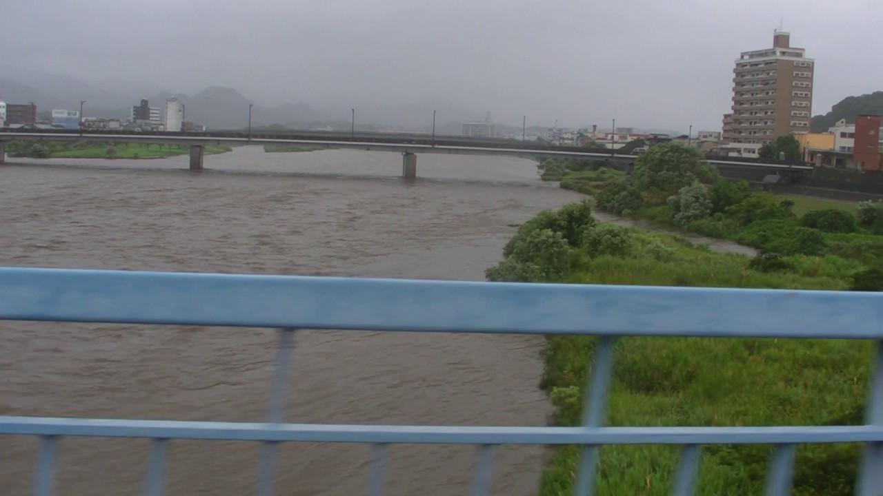 延岡市須崎橋から大瀬川 - YouTube