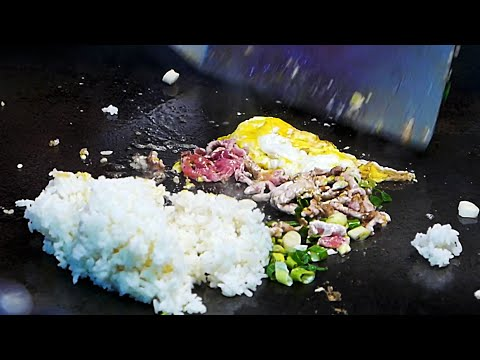 Taiwan Street Food - Pork and Egg Fried Rice 豬肉雞蛋炒飯