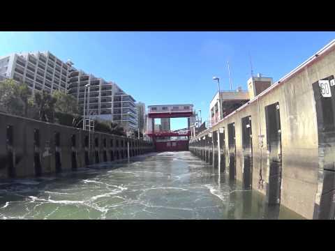 lock gate!Tokyo canal cruise 日本橋発閘門体験クルーズ【ジール】