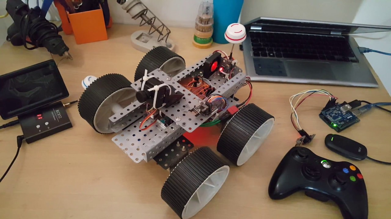 Arduino FPV Robot with Nrf24l01 and Xbox 360 Controller
