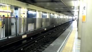 東京メトロ銀座線  東京メトロ新1000系 1121F 6両編成  渋谷行 日本橋駅を入線~発車