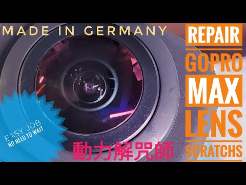 Repair Gopro Max Scratch Lens With Glass Polish Tool Kit, Nice Job