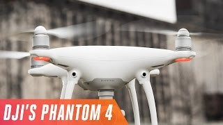 DJI's Phantom 4 is the drone we've been waiting for(It's the first consumer drone that can see the world, dodge obstacles, and track humans. Check out this YouTube playlist for more Drone videos from The Verge: ..., 2016-03-01T16:00:04.000Z)