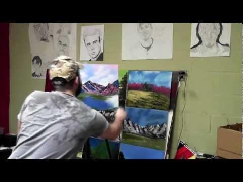 Mountain Sunset oil painting
