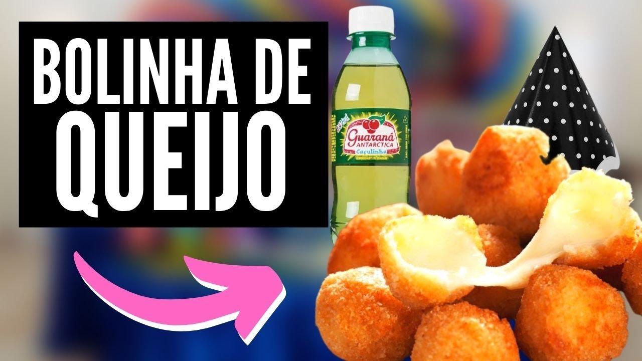 BOLINHA DE QUEIJO SEM MASSA COM TRÊS INGREDIENTES - Receita fácil e rápida de bolinha de queijo