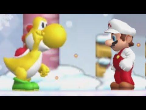 Newer Super Mario Bros. Wii Walkthrough - World 5 - Freezeflame Glacier/Volcano (All Star Coins)