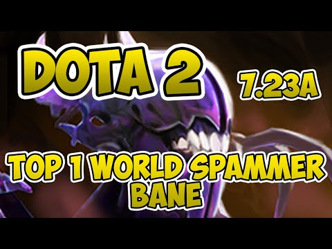 Top 1 World Bane Spammer [2000+ Matches] [Dota 2] [7.23a] [Павук Петро] [Gameplay]