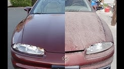Buffing Car DIY Buff Cars Detailing How To Auto Detail Before & After Video