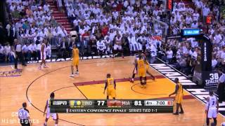 Repeat youtube video Miami Heat: Game 3 Highlights vs Pacers - Vintage Ray Allen
