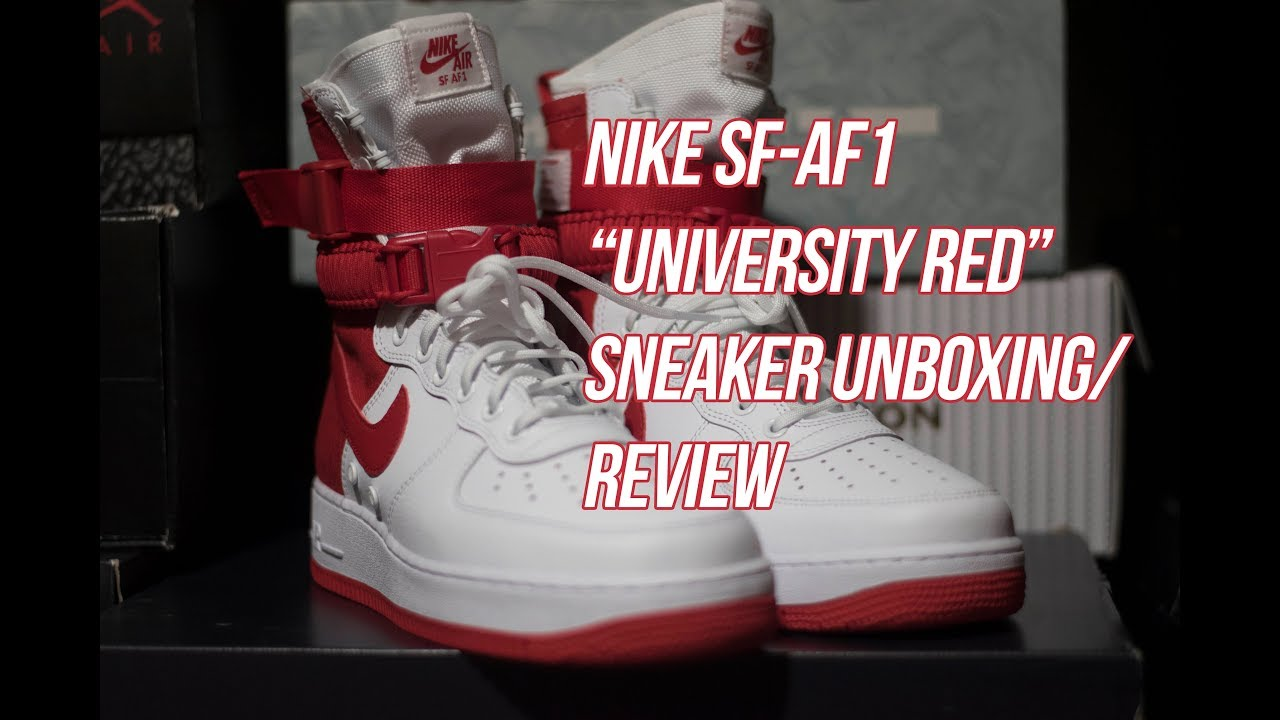 SF-AF1 University Red Unboxing and