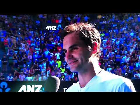 Roger Federer on court interview after M.Fucsovics win | Australian Open 2018