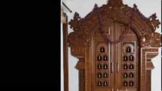 Pooja Carved Wooden Door Designs