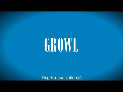 How to pronounce  GROWL