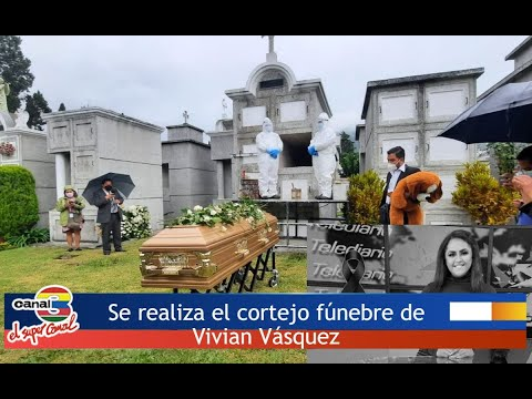 Se realiza el cortejo fúnebre de Vivian Vásquez ¡Hasta siempre amiga y compañera!