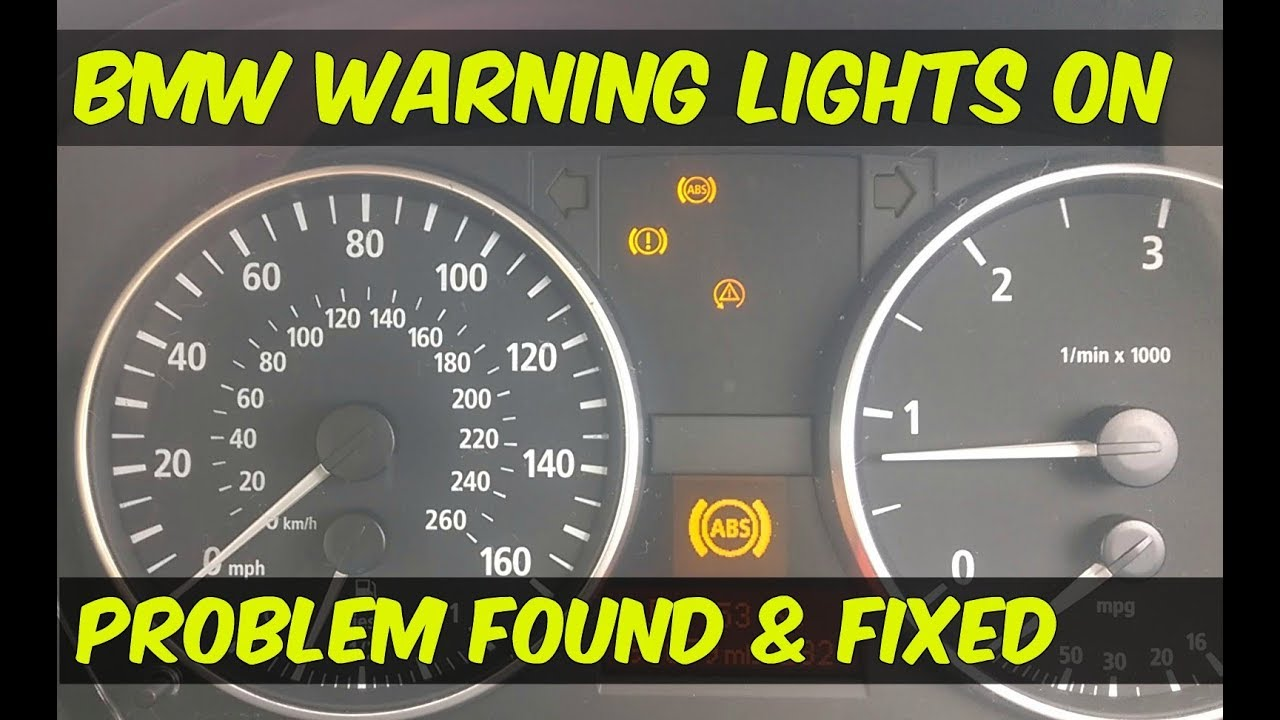 BMW - ABS & DSC Dynamic Stability Control Warning Lights On  Diagnose &  Rectify Fault