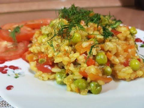 Овощное рагу с рисом и мясом в мультиварке