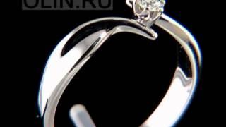 Помолвочное кольцо с бриллиантом(Женское кольцо для помолвки выполнено из белого золота 585 пробы и украшено одним круглым бриллиантом весом..., 2013-01-07T06:52:23.000Z)