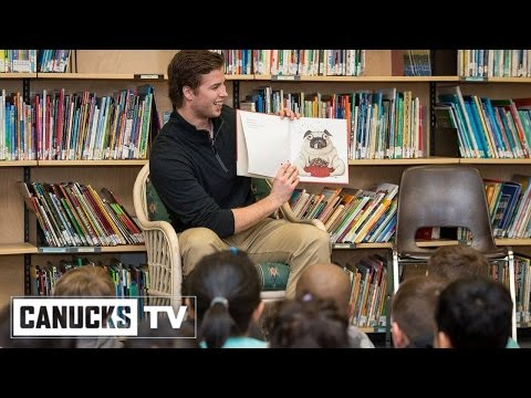 Canucks Rookie Ben Hutton Supports Family Literacy Week